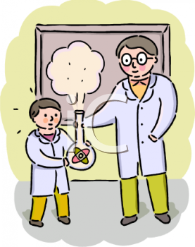 science teacher doing an experiment with a student royalty free rh clipartguide com Classroom Clip Art History Clip Art