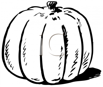 Black and White Pumpkin for Thanksgiving