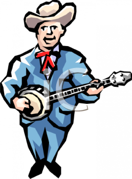 Traditional Bluegrass Musician Playing Banjo