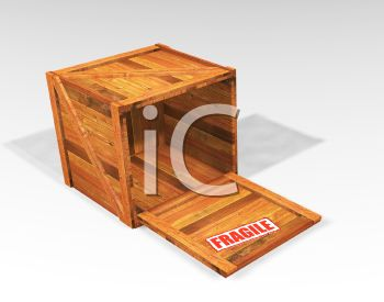 Empty Wooden Packing Crate