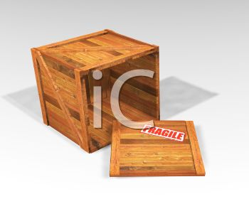 Wooden Crate with the Lid Off