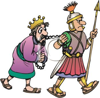 Roman Solider Leading the King to Jail clipart image