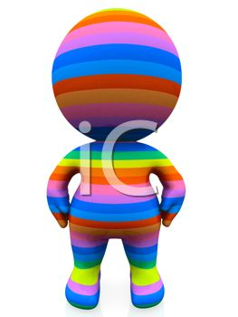 3D Human Figure in Many Colors Depicting Diversity