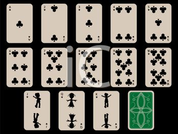 Cards Laid Out for a Game of Solitaire