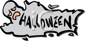 Ghost Shaped Halloween Banner