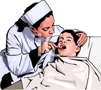 Realistic Female Doctor Examining a Child's Mouth