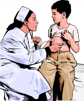 Realistic Lady Doctor Examining a Child