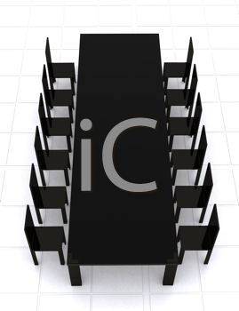 3D Model of a Conference Table and Chairs
