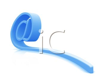 3D At Symbol for Email