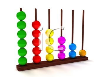 3D Render of an Abacus in Bright Colors