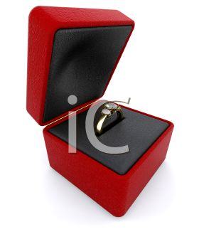 3D Engagement Ring in a Jewelers Box
