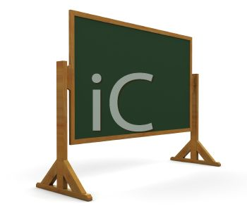 Fresh 3D Chalkboard on a Stand - Royalty Free Clipart Image IA67