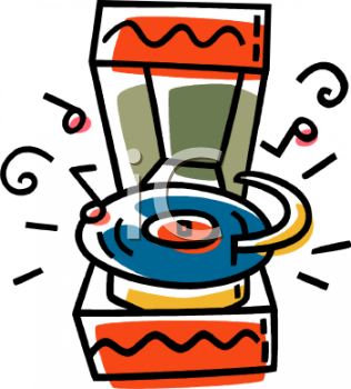 350 Png 93kB Cartoon Of A Retro Record Player Royalty Free Clip Art