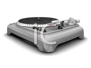 3D Record Player Turntable