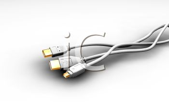 3D Render of USB Cables
