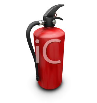 3D Fire Extinguisher for Safety Equipment