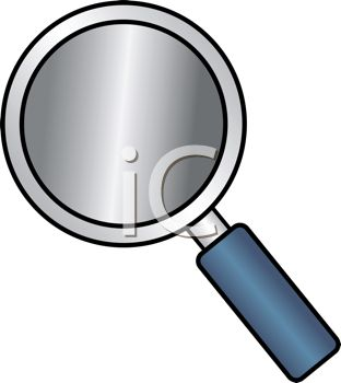 Cartoon Style Magnifying Glass