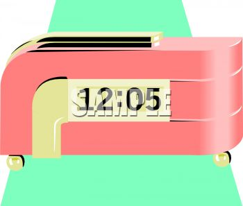 Retro Looking Pink Clock