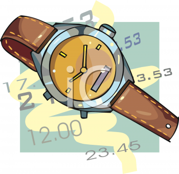 Time Icon with a Watch and Hours and Minutes