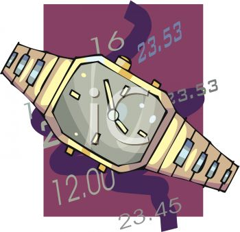 Hours and Minutes Marked on a Watch Icon