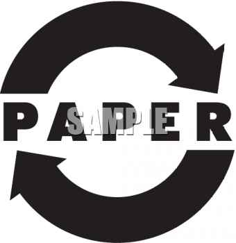 Recycle Sign for Recycling Paper Products - Royalty Free Clip Art ...