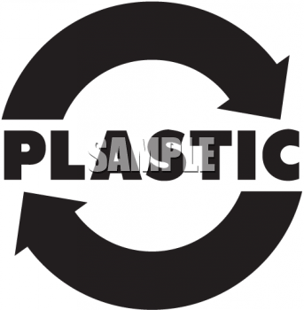 Royalty Free Clipart Image Recycle Sign For Recycling Plastic