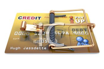 Cartoon of a Mousetrap Credit Card
