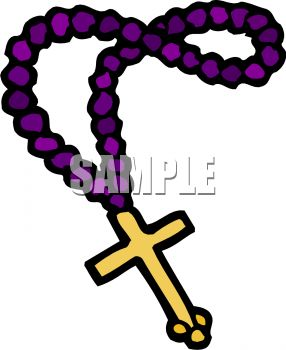 rosary beads with a gold cross royalty free clip art image rh clipartguide com rosary clipart images rosary border clipart