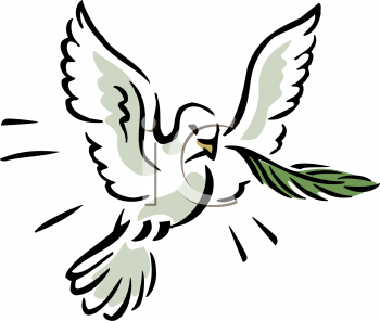 Dove with an Olive Branch in It's Mouth Depicting Peace