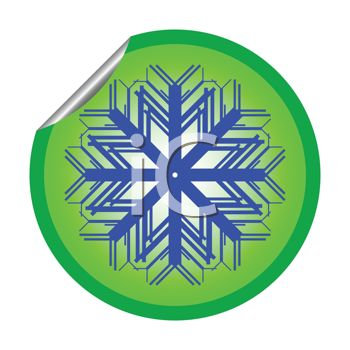 Peeling Sticker of a Snowflake Design