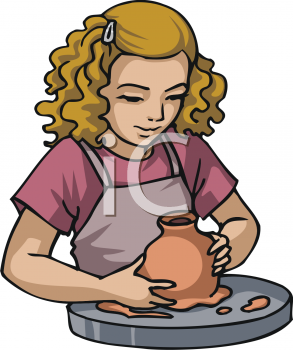 royalty free clip art image little girl learning to make pottery at rh clipartguide com make clipart background transparent make clipart transparent in powerpoint