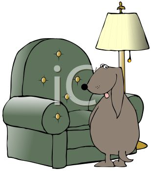 Living Room on Cartoon Of A Bad Dog Peeing On Living Room Furniture   Royalty Free