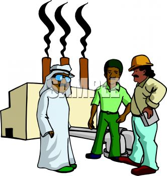 Oil Sheik with Workers