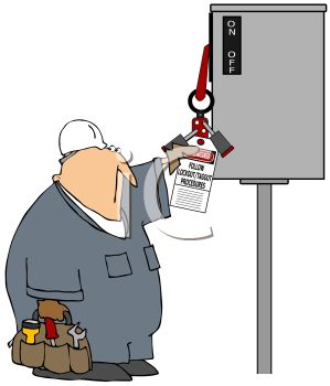 Workman Reading Instructions on a Power Box