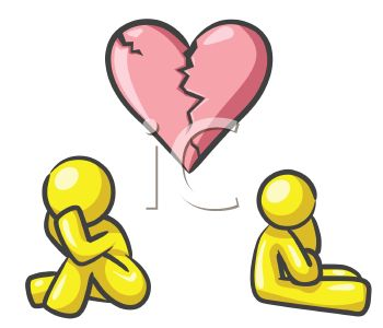 Two People with Broken Hearts Facing a Divorce