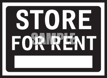Store for Rent Sign