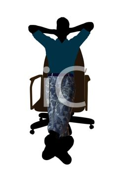 Man Wearing Camo Pants Sitting in a Chair