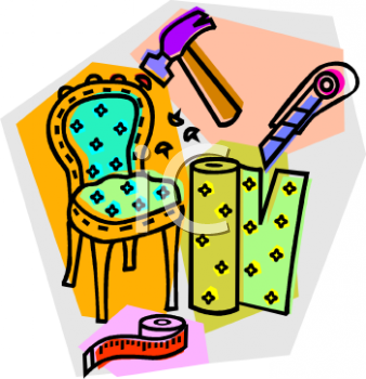 Furniture Repair and Upholstery Icon - Royalty Free Clipart Image