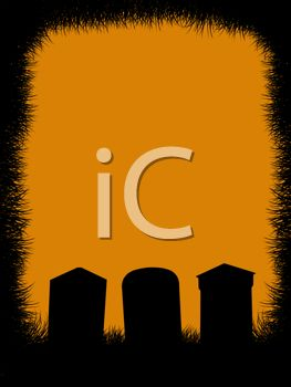 Halloween Background of Headstones