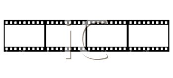 Film strip or strip of film with 4 frames