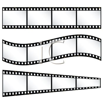 Film strips or strips of film