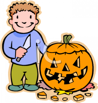 cartoon of a boy carving a pumpkin for halloween royalty free clip rh clipartguide com pumpkin carving clipart free