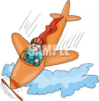 Cartoon of a Plane in a Nose Dive