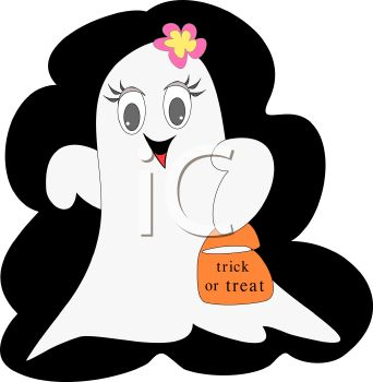 Cute Girl Ghost Trick or Treating