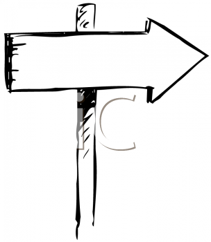 Wooden Sign with an Arrow Pointing the Way to Go