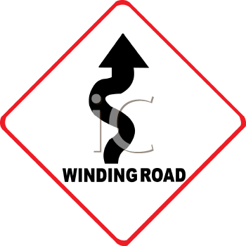 Royalty free clip art image winding road traffic sign publicscrutiny Images