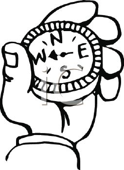 Royalty Free Clip Art Image: Black and White Cartoon Hand Holding a ...
