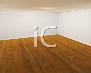 Realistic Empty Room with Hardwood Floor