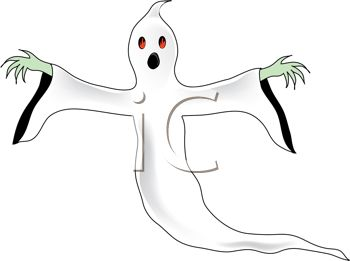 Spooky, scary ghost or spirit Halloween costume
