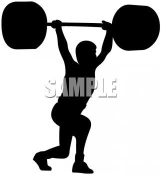 weightlifter lifting weights over his head picture royalty free rh clipartguide com weightlifter clipart free weightlifter clipart pictures